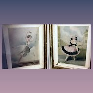 Set of 2 Vintage Ballet Dancers Prints of Lucile Grahn in Eoline Ou La Dryade & Marie Guy Stephan in Las Boleras De Cadiz