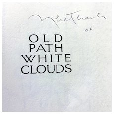 Thich Nhat Hanh Signed Book Old Path White Clouds