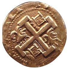 Spanish 8 Real Gilded Coin -Facsimil