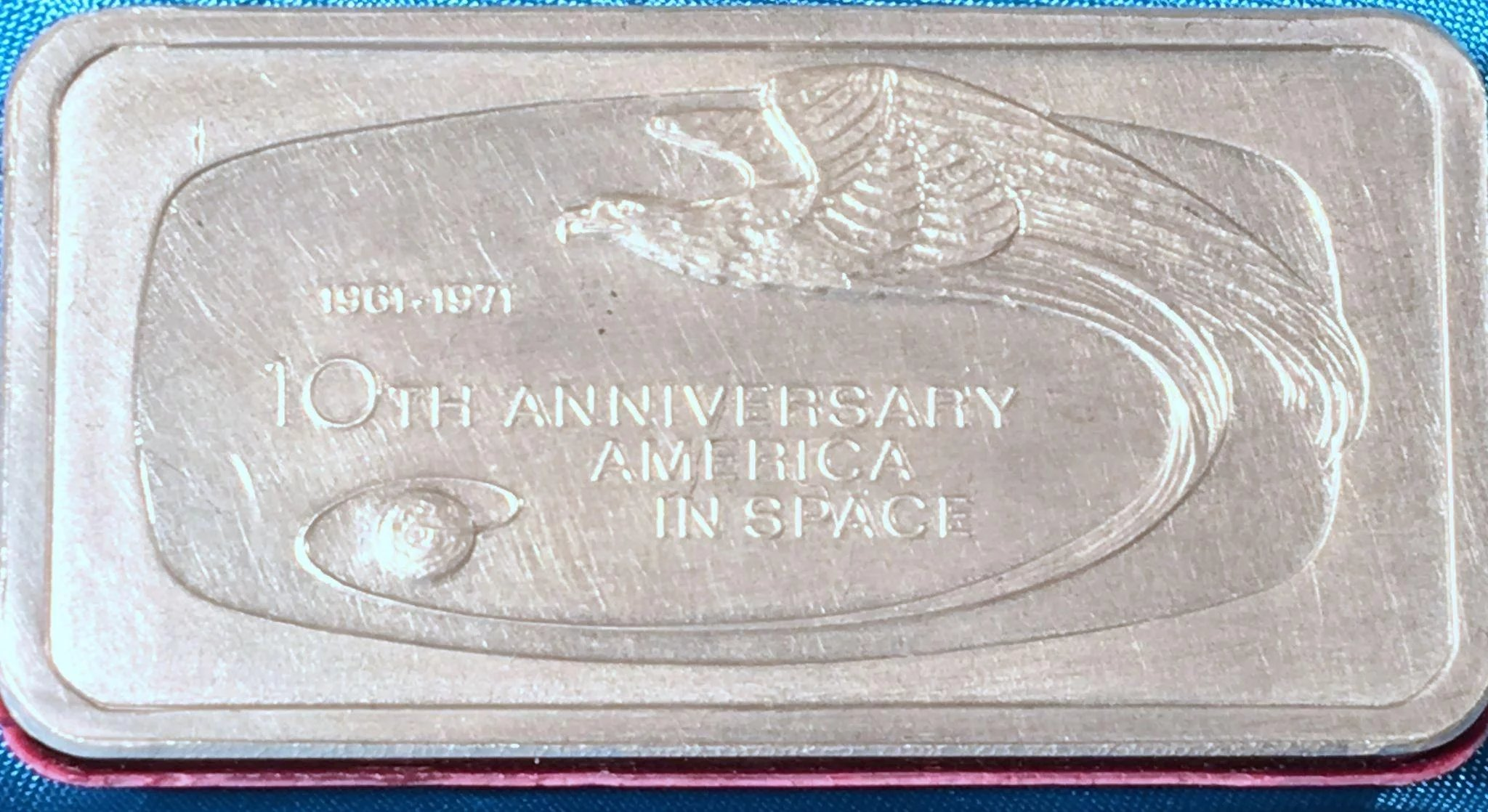 Vintage Sterling Silver Franklin Mint 10th Anniversary