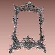 Victorian Pewter Frame