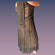 Authentic 1920's Georgette Flapper Downton Abbey Style Dress