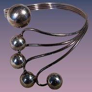 Sterling Modernism Cuff Bracelet 1960