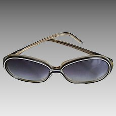 0992df887738 Nina Ricci Rare Paris Handmade Designer Sunglasses Over-Sized Butterfly  Shape Gradient Bluish Lens. The Vintage Cornucopia