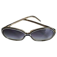 Nina Ricci Rare Paris Handmade Designer Sunglasses Over-Sized Butterfly Shape Gradient Bluish Lens