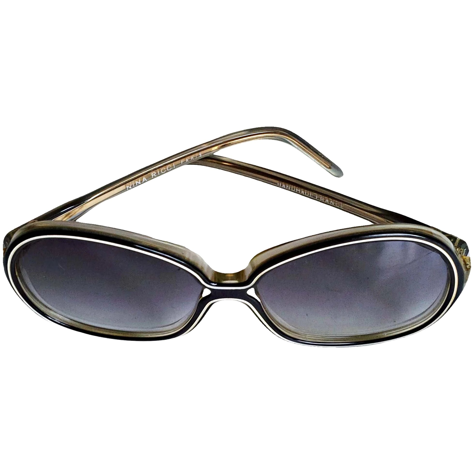 Metal Rim Butterfly Designer Fashion Sunglasses with Belt Buckle Arms