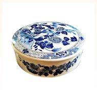 "Tiffany & Co.  ""Tiffany Peony"" Trinket  Box  Flower Design By Sybil Connoly U.K. Porcelain"
