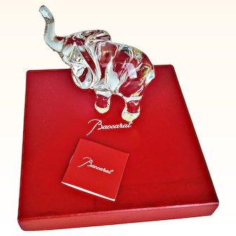 Baccarat By Loet Vanderveen Tanganyika Baby Elephant 2102785 Crystal Sculpture