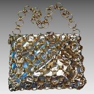 Disco vintage silver and gold shoulder bag