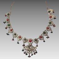 Vintage Indian jeweled necklace