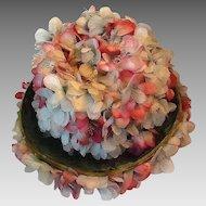 Very pretty silk flower hat