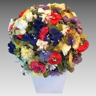 Amazing flowered 50's hat