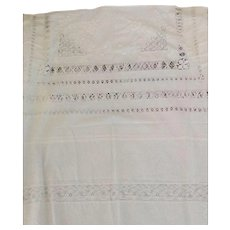 Very large white tablecloth with openwork