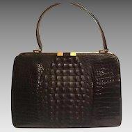 Vintage Hornback Alligator bag