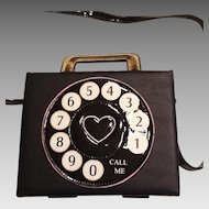 Unusual bag with phone dial