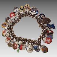 Loaded Sterling English charm bracelet