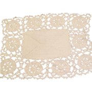 Pair of lovely crocheted placemats