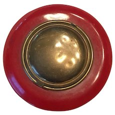Vintage Bakelite and Brass compact