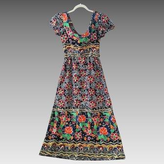 Beautiful 70's floral cotton dress