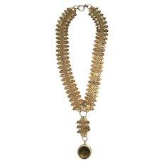 Antique Bookchain Locket Necklace