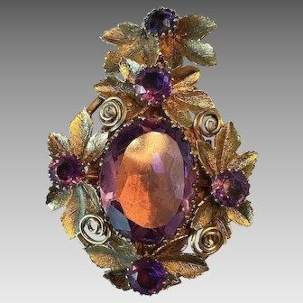 Wonderful Victorian Locket with Purple Stones