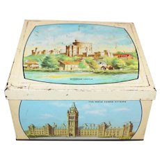"Early 20th Century Biscuit Tin ""The British Commonwealth"""