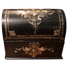 Mid-19th Century English Papier Mache Letter Box