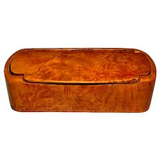 19th Century Burl Birch Snuff Box