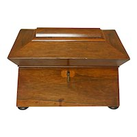 Early 19th Century English Tea Caddy of Rosewood