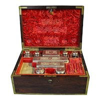 19th Century George IV Travel Dressing Box