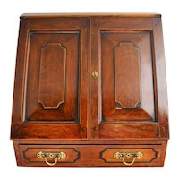 Early 19th Century Continental Satinwood Stationary Cabinet Writing Box