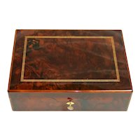 Late 20th Century Solid Mahogany Dunhill Humidor Cigar Box