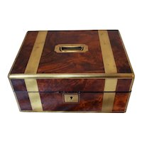 Mid 19th Century English Brass & Walnut Box