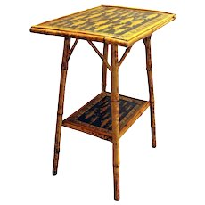 Two-tier Rectangular Bamboo Side Table