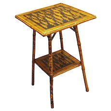 Bamboo 2-tier side table