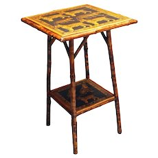 Bamboo Square 2-tier side table