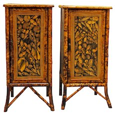 Pair of Bamboo Cabinets