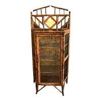 English Bamboo & Glass Cabinet, c. 1880