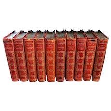 """Modern Eloquence"" Antique 10 Volume Book Set"