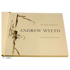 """Signed """"Andrew Wyeth"""" Cased Limited Edition Book"""