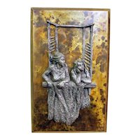 20th Century Bronze and Pewter Wall Panel by Phillip & Kelvin LaVerne