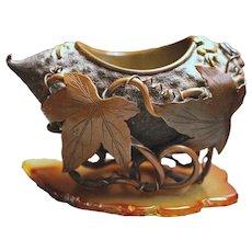 A Meiji period Bronze Brush Washer