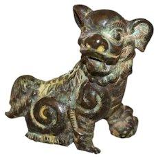 Qing Dynasty Buddhistic Bronze Lion