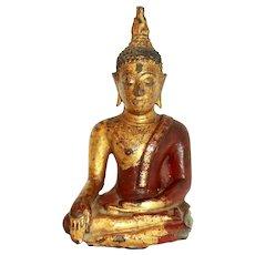 19th Century Thai Khmer Bronze Buddha Sculpture