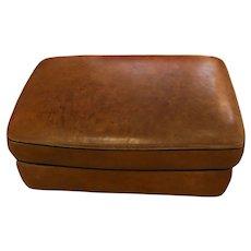 Mid-20th Century Leather Ottoman