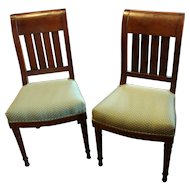 C. 1830 Pair of French Mohogany Side Chairs