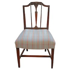 George III Side Chair of Mahogany & Prince of Wales Plume Design