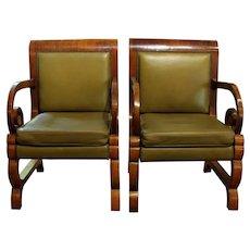 Pair of Baltic Biedermeier Arm Chairs