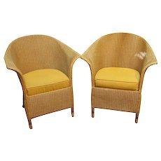 Mid-20th Century Pair Arm Chairs by Lloyd Loom