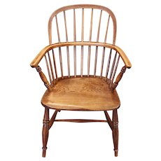 Mid 19th Century English Windsor Arm Chair